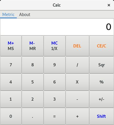 Calc -  Simple Calculator With Metric Converter Screenshot 1