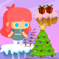 Cute Girl Christmas Buildbox Template