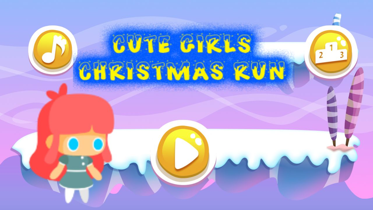 Cute Girl Christmas Buildbox Template Screenshot 1