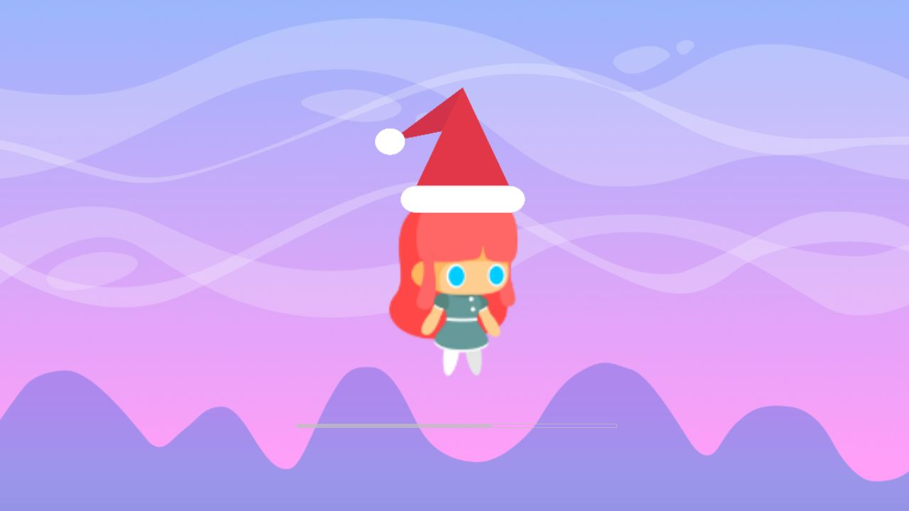 Cute Girl Christmas Buildbox Template Screenshot 5