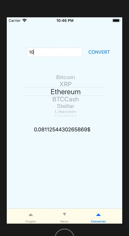 Crypto Currency iOS App Source Code Screenshot 1