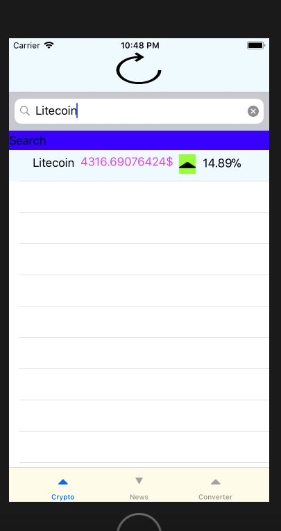 Crypto Currency iOS App Source Code Screenshot 4