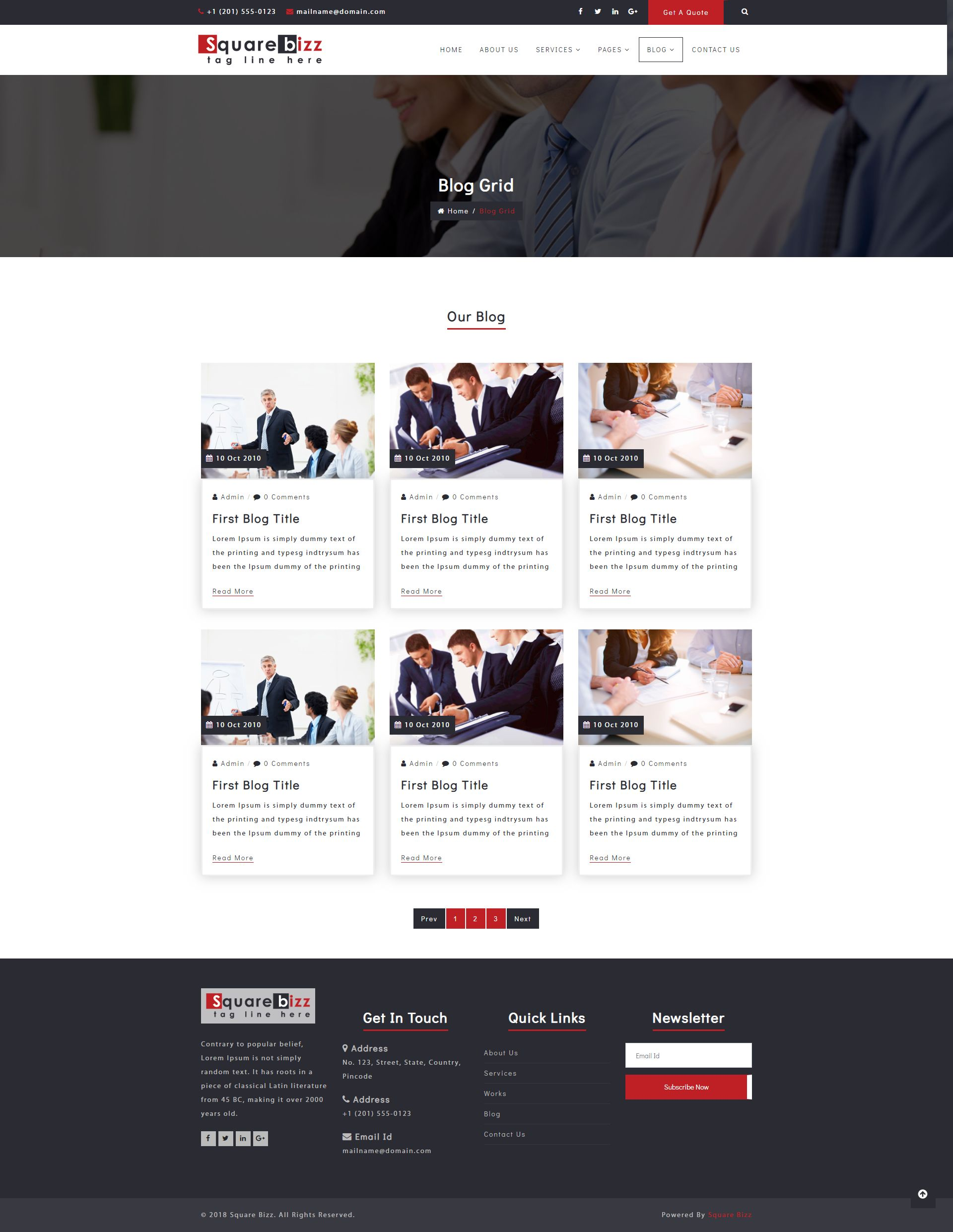 Square Bizz - Consulting and Corporate Template Screenshot 7
