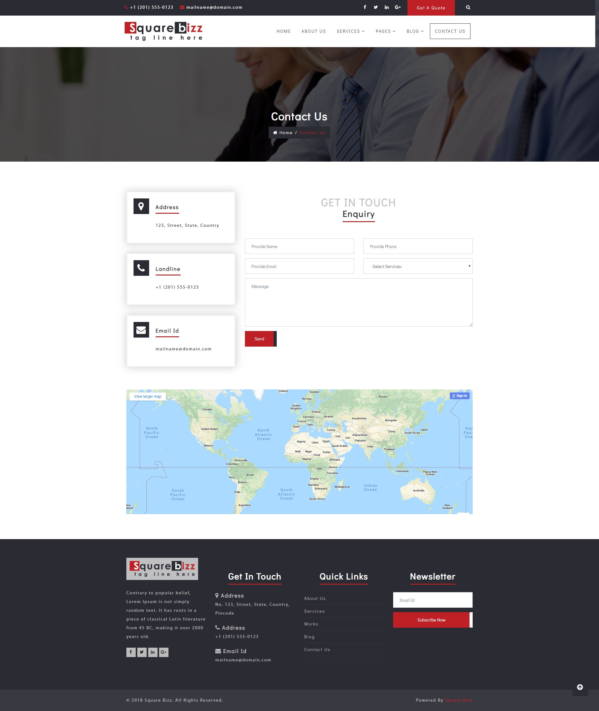 Square Bizz - Consulting and Corporate Template Screenshot 10