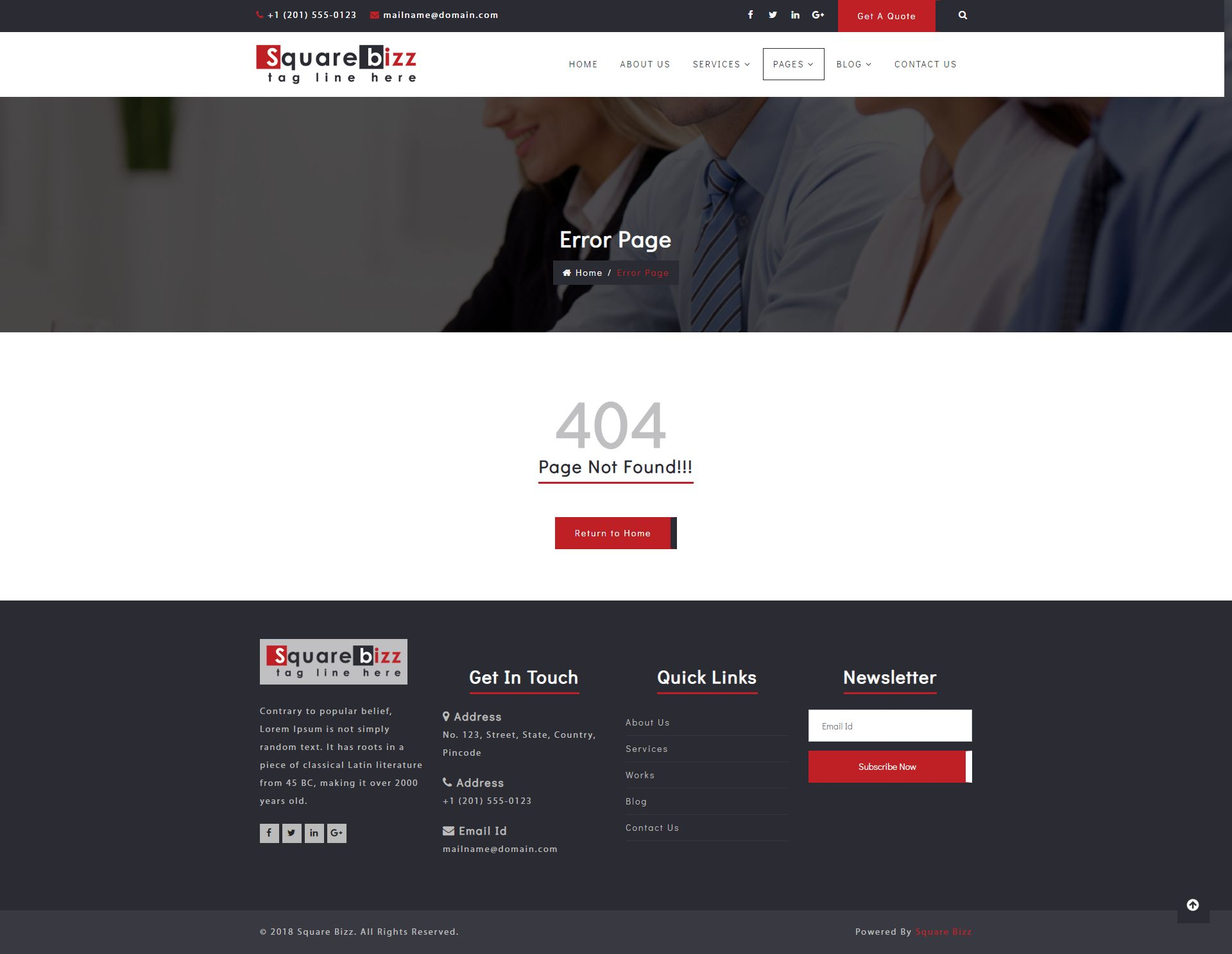 Square Bizz - Consulting and Corporate Template Screenshot 11
