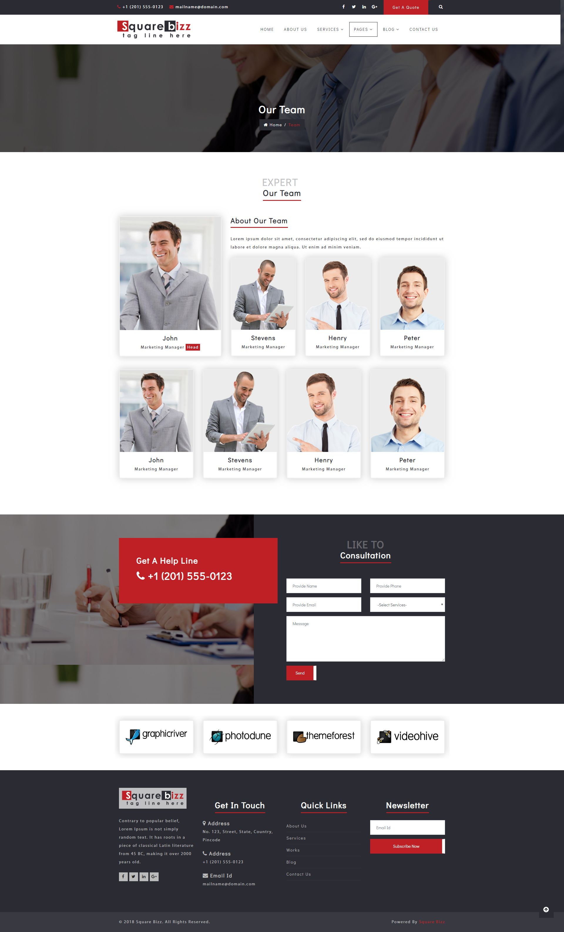 Square Bizz - Consulting and Corporate Template Screenshot 15