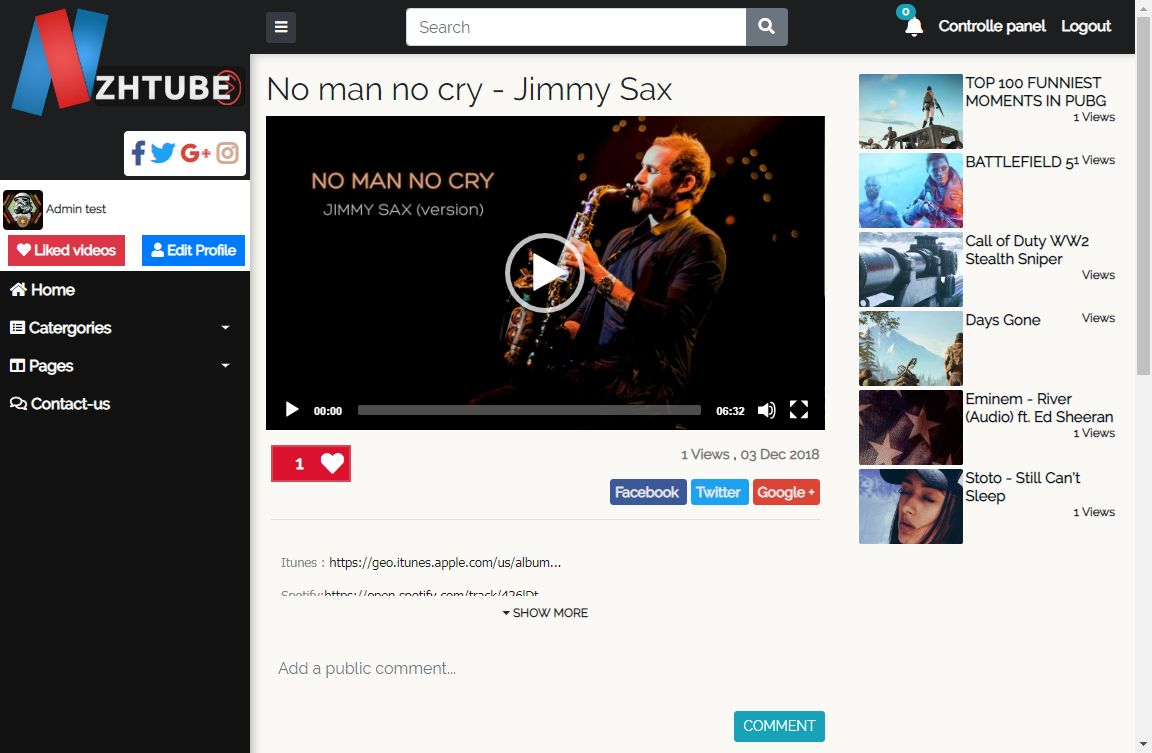 NazihTube Video Sharing Script - Node.js Screenshot 8