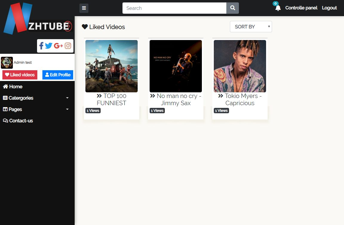 NazihTube Video Sharing Script - Node.js Screenshot 11