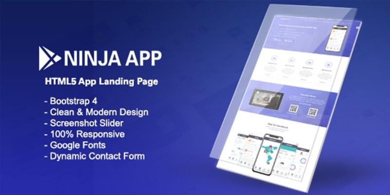Ninja App - App Landing Page HTML by Synchrotheme
