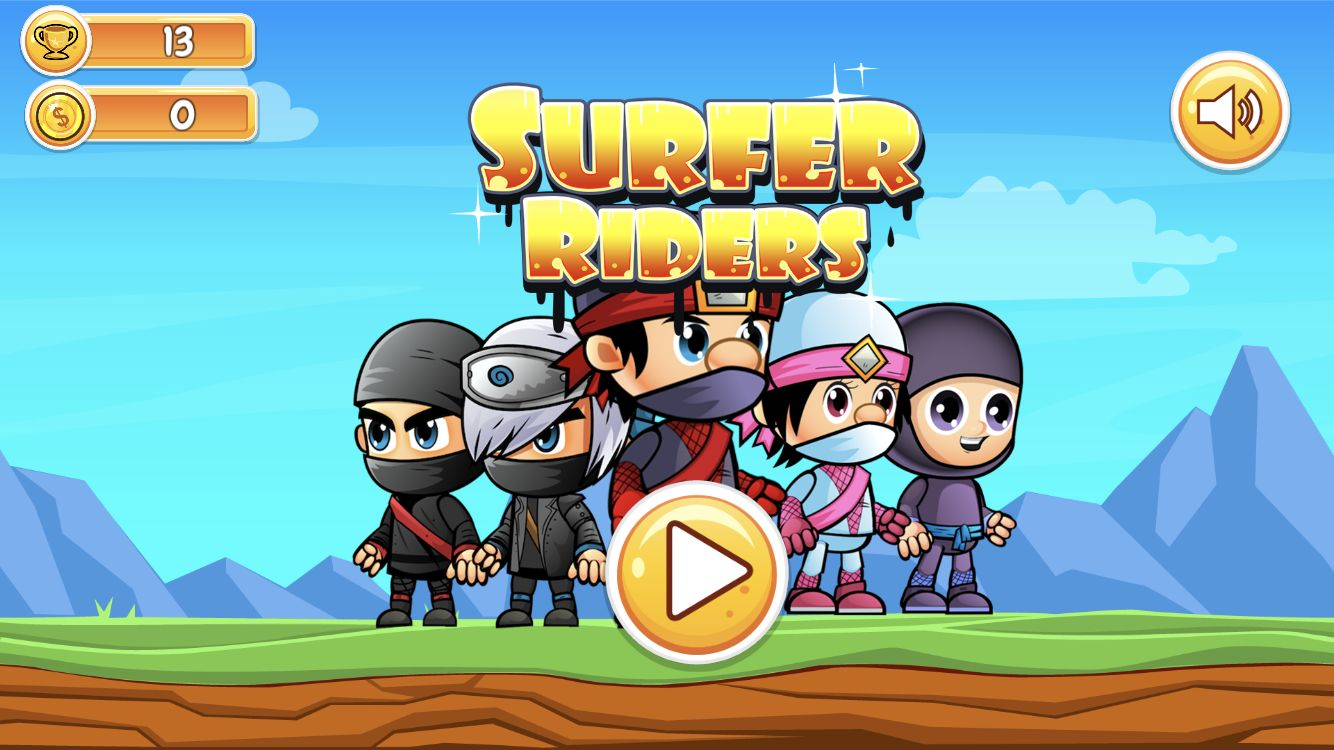 Surfer Riders - Unity Game Source Code Screenshot 1