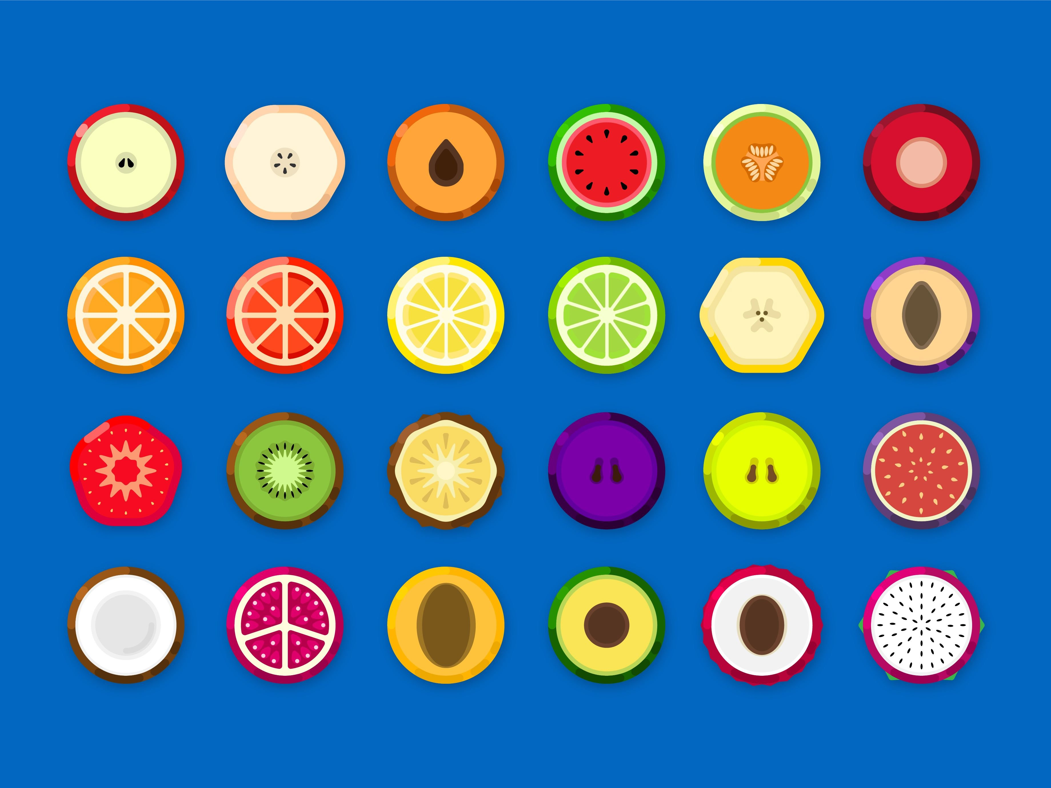 Fruicon - Flat Design Fruit Icons Screenshot 1