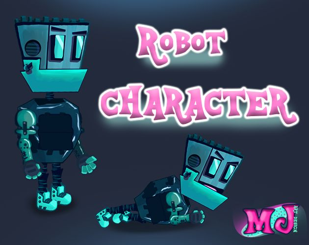 2D Game Robot Character Screenshot 1