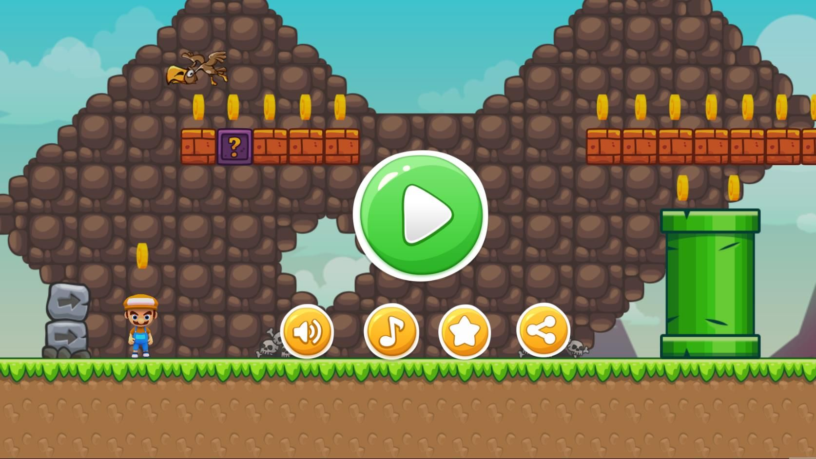 Super Boy Adventure - Buildbox Template  Screenshot 1