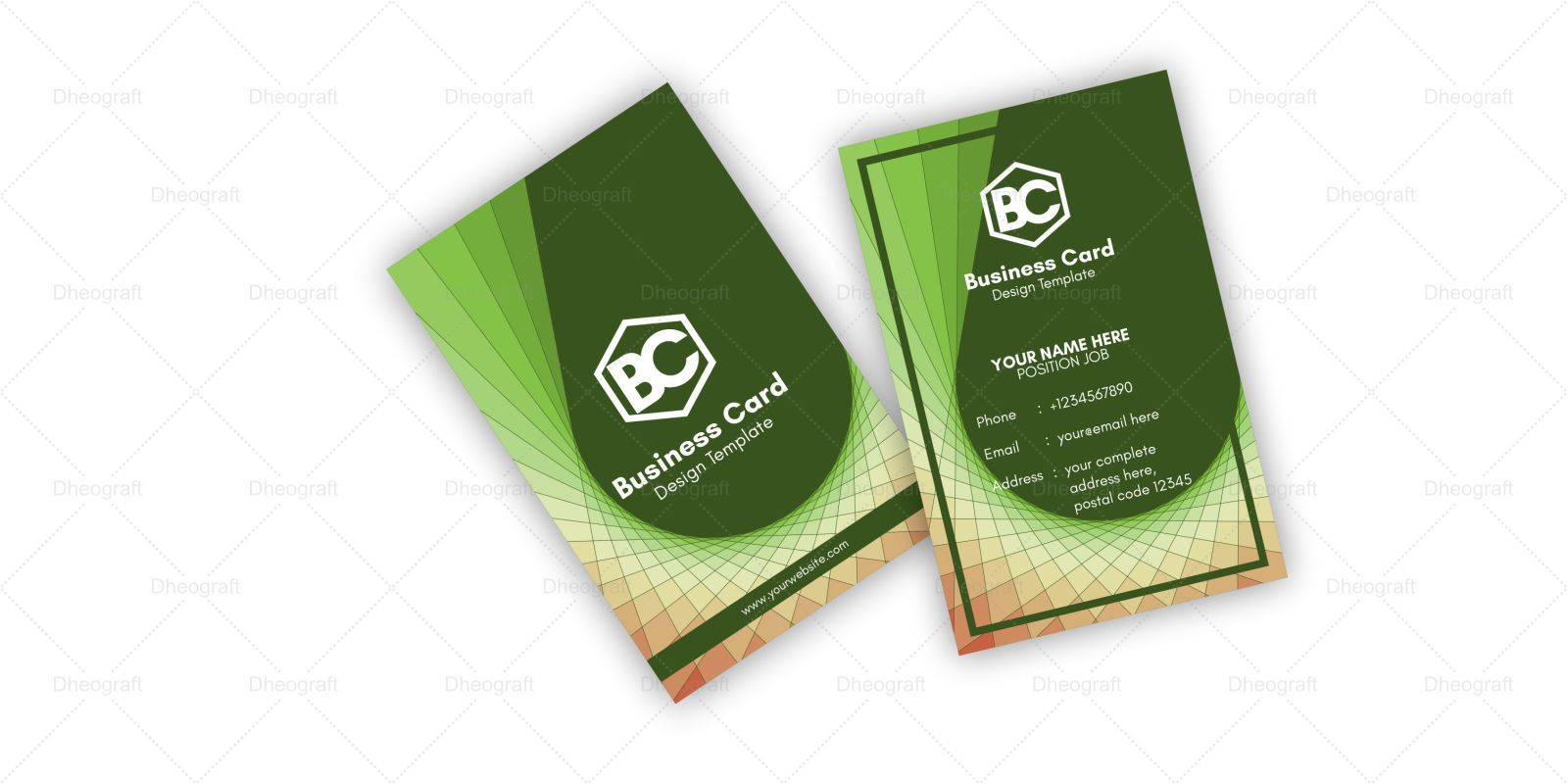 Geometric Spiral Business Card Template Screenshot 1