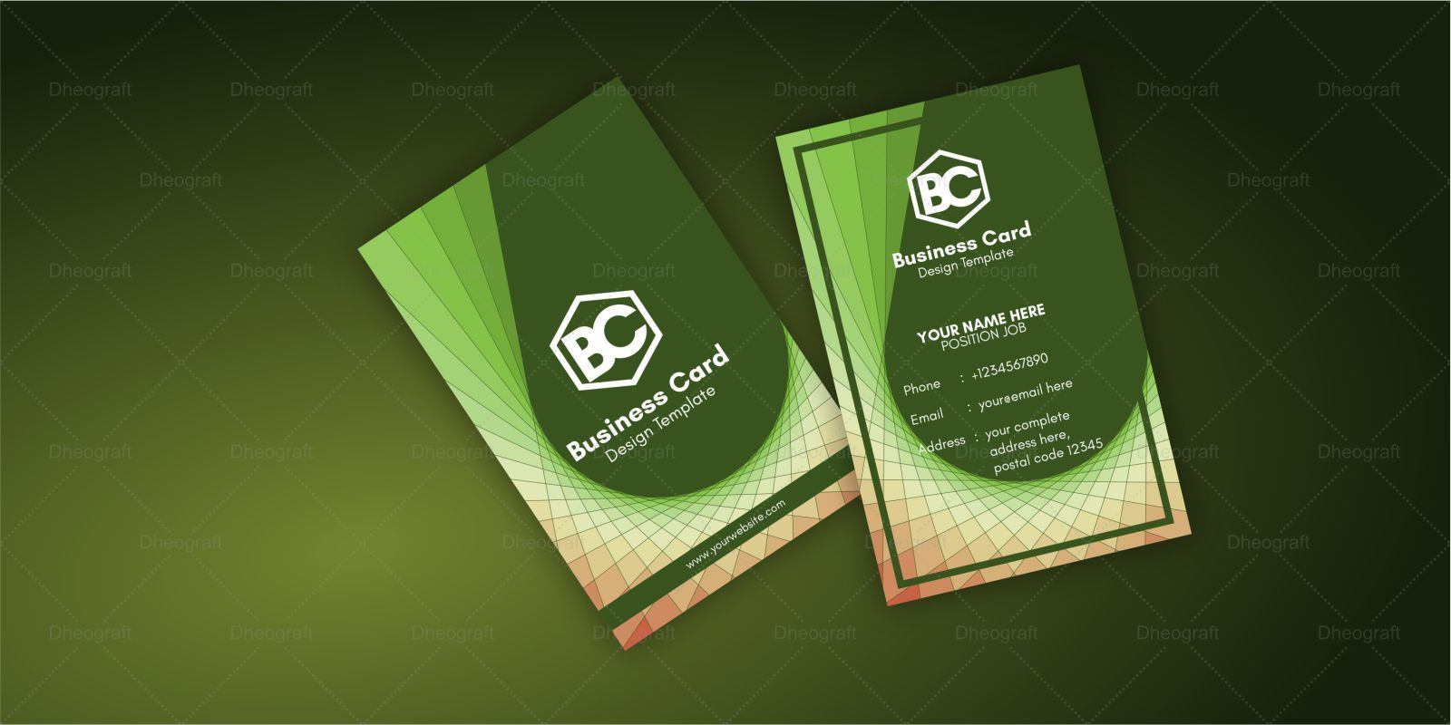 Geometric Spiral Business Card Template Screenshot 2