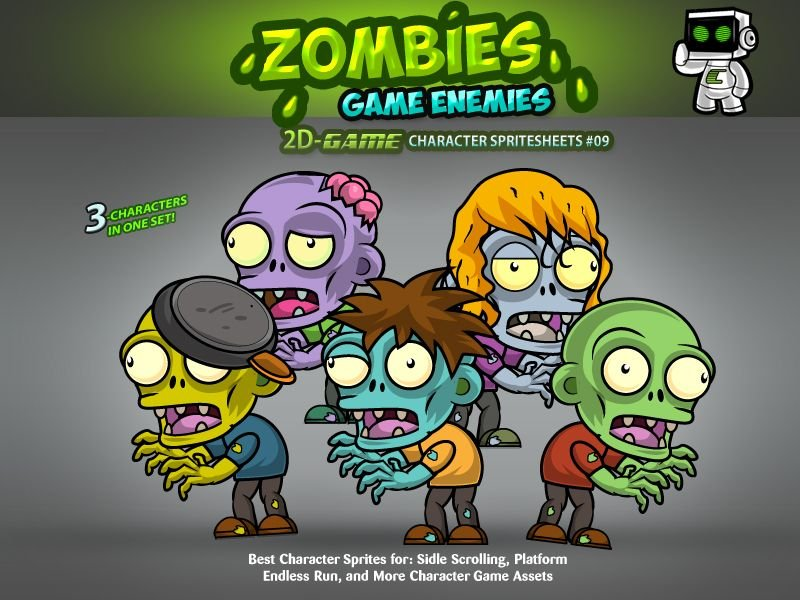 Zombies 2D Game Character Sprites 09 Screenshot 1