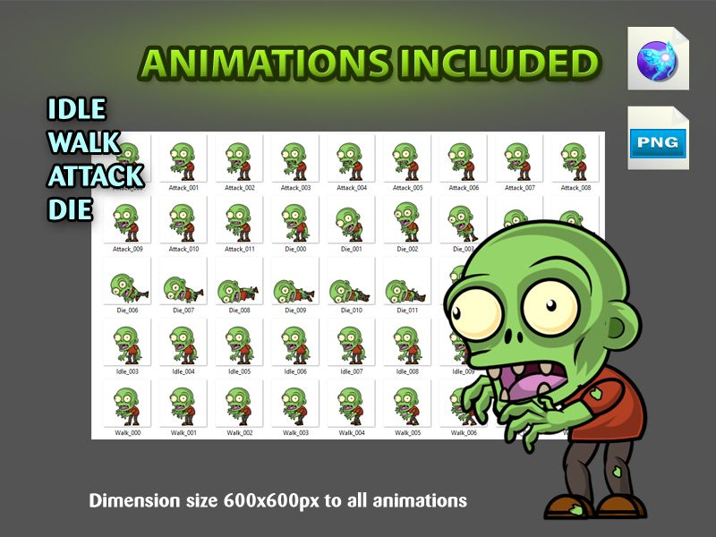 Zombies 2D Game Character Sprites 09 Screenshot 4