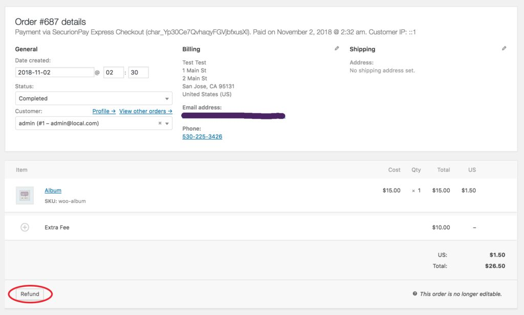 SecurionPay Payment Gateway for WooCommerce Screenshot 5