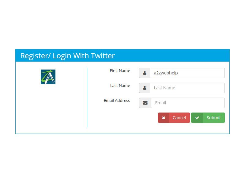 PHP Login Register With Twitter Screenshot 3