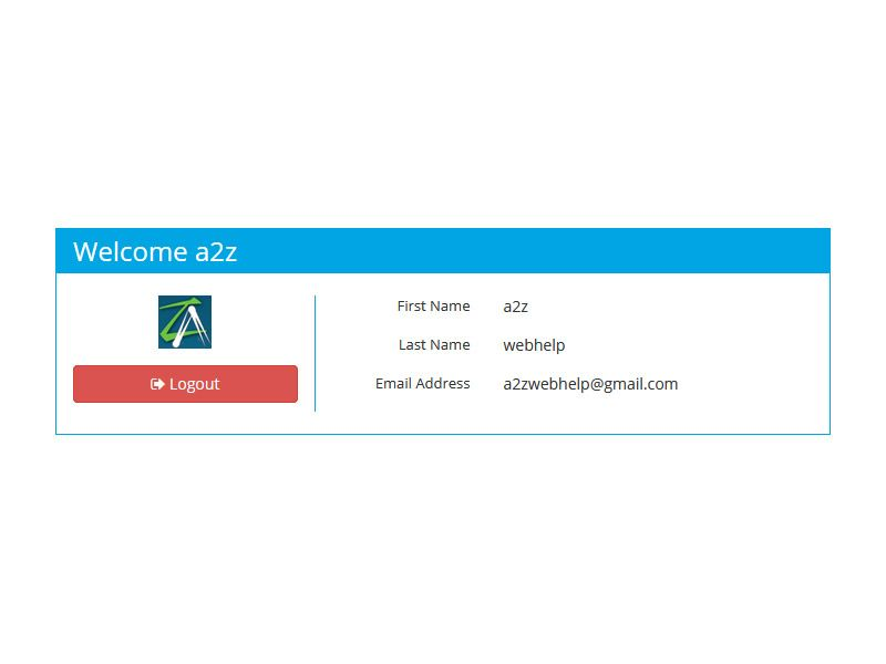 PHP Login Register With Twitter Screenshot 4