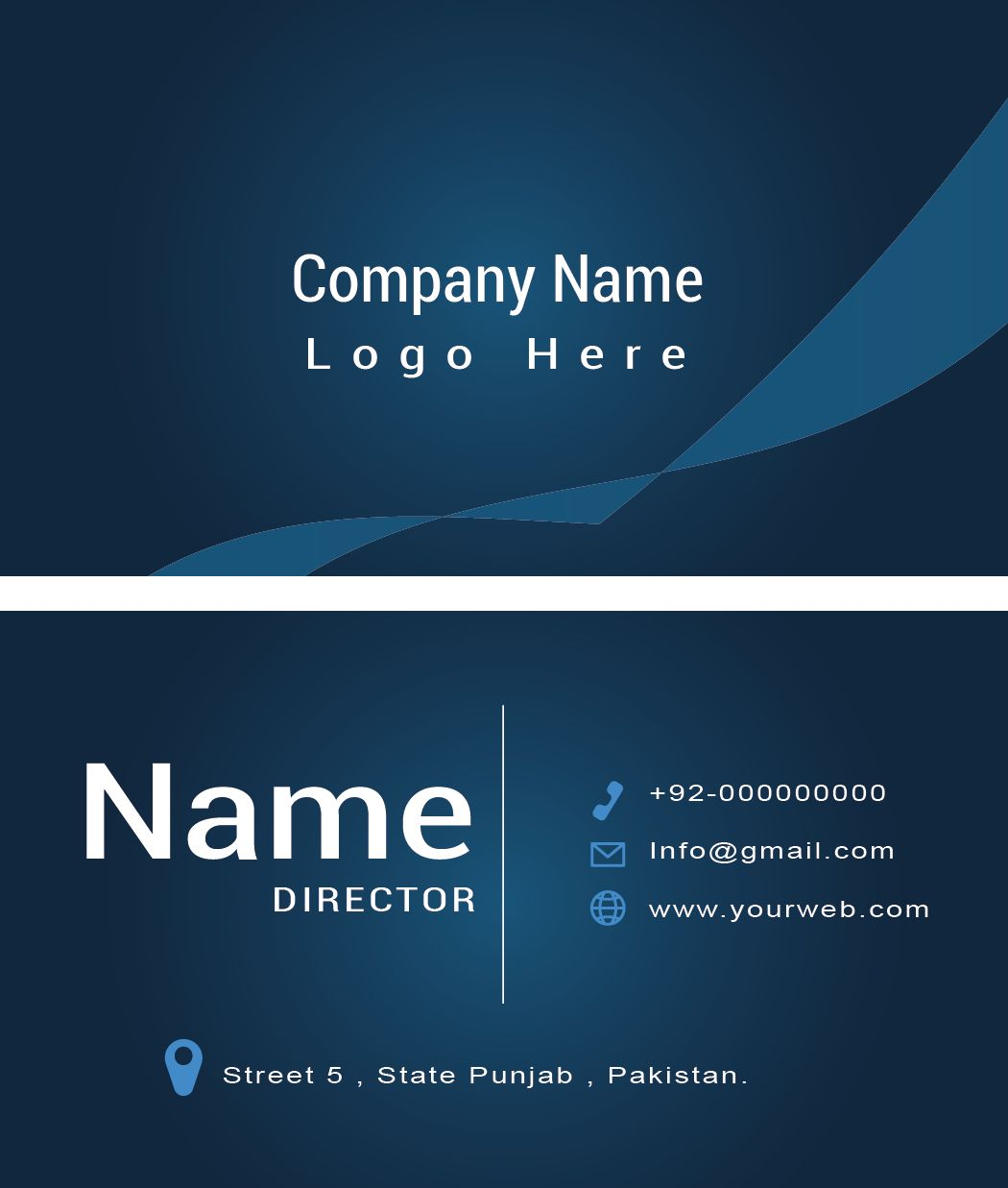 Modern Business Card Template Screenshot 1