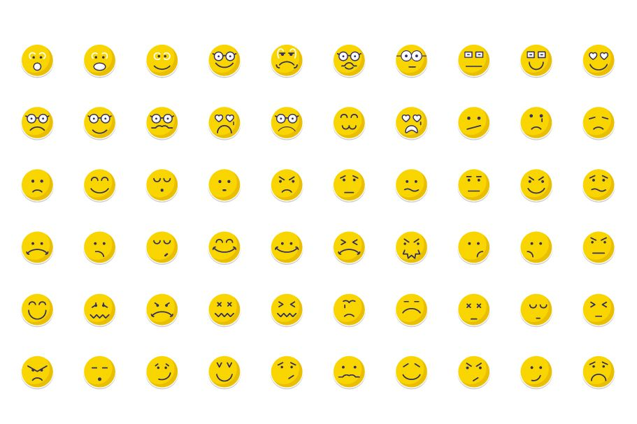 140 Emoticon or Emoji Sticker Icons Pack  Screenshot 2