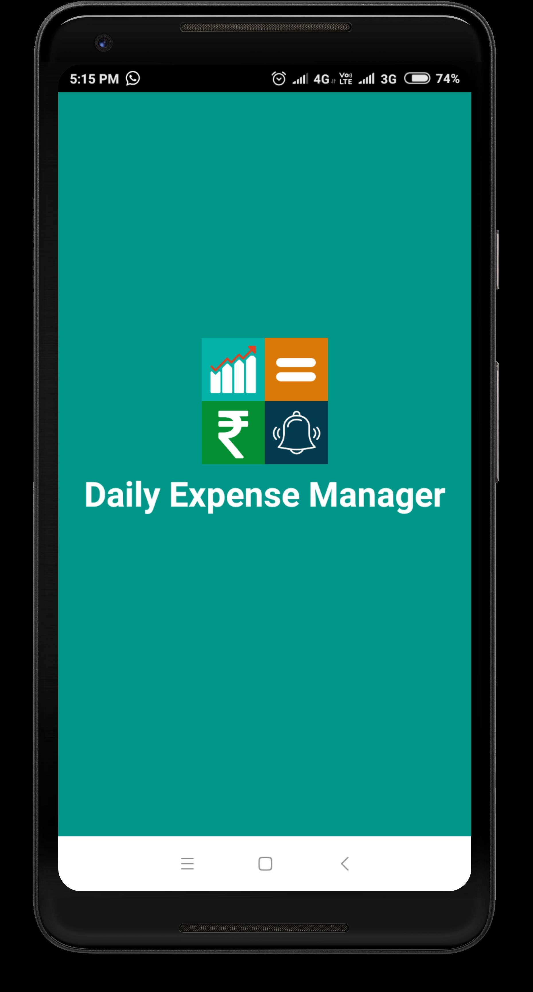 Daily Expense Manager - Android Source Code Screenshot 1