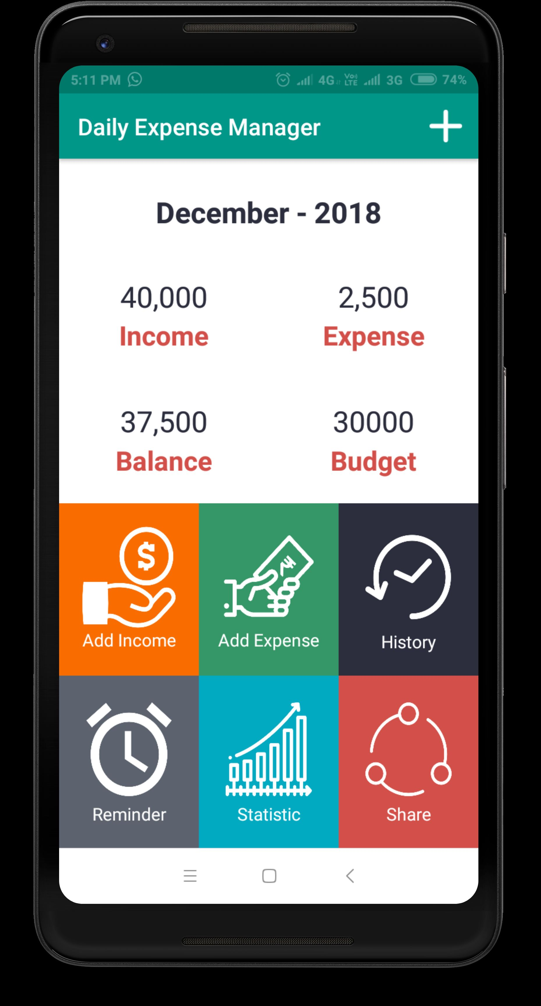 Daily Expense Manager - Android Source Code Screenshot 9