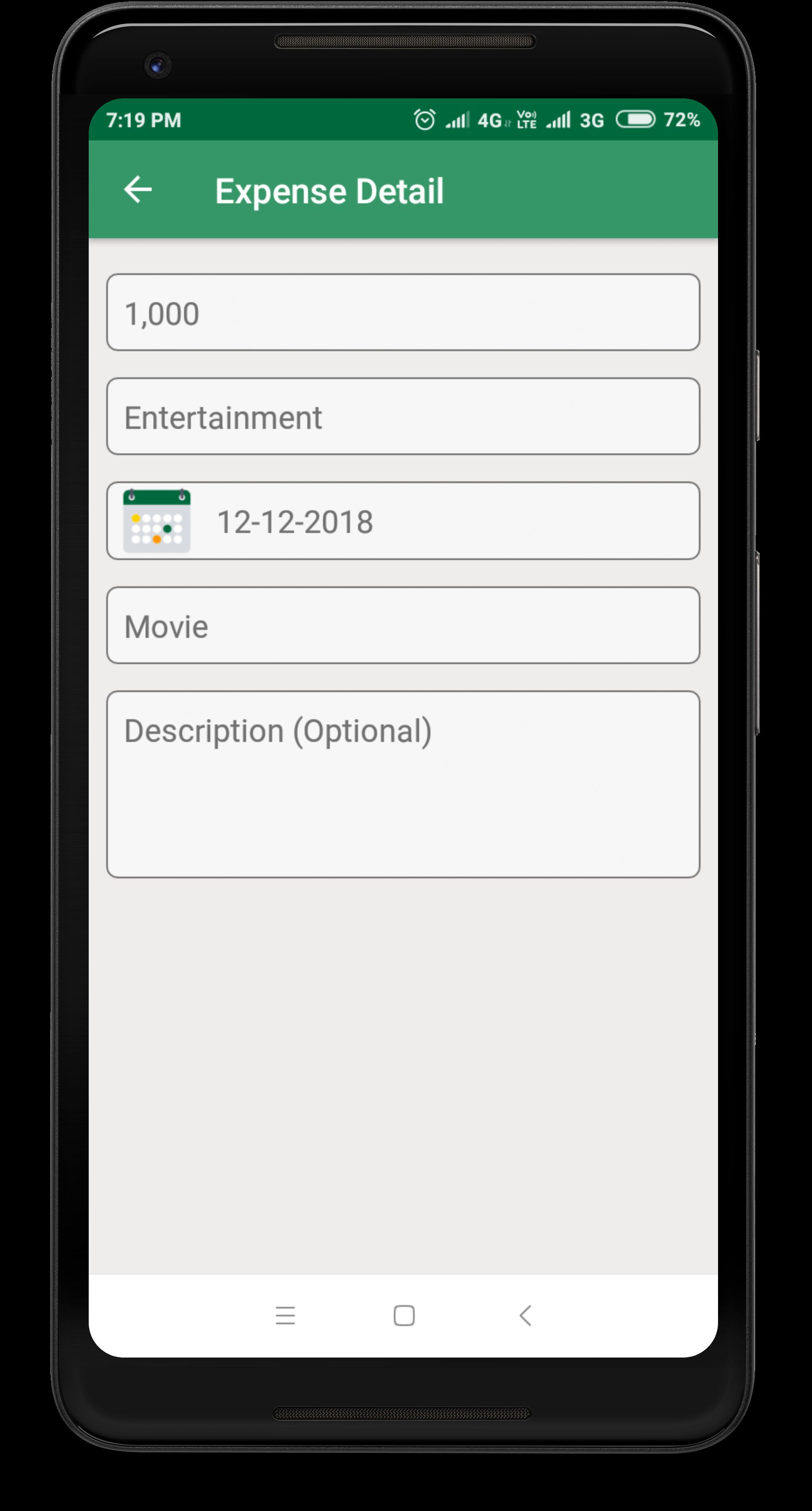 Daily Expense Manager - Android Source Code Screenshot 13