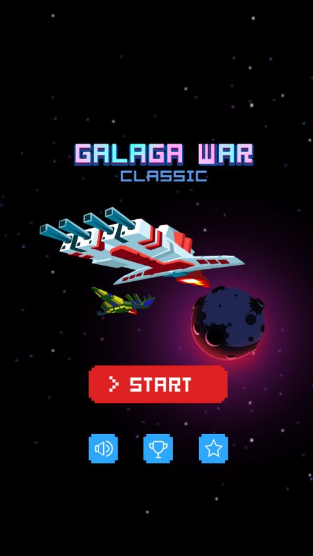 Galaga War Classic - Buildbox Game Template Screenshot 1