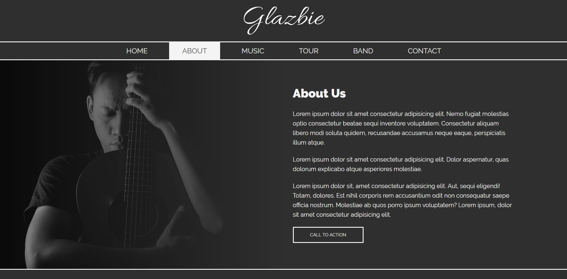 Glazbie - Template For a Band Or A Musician Screenshot 1