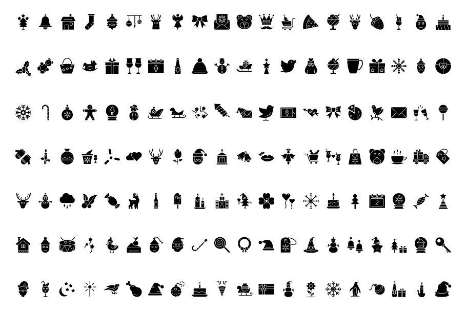 600 Christmas Celebration Vector Icons Pack Screenshot 2