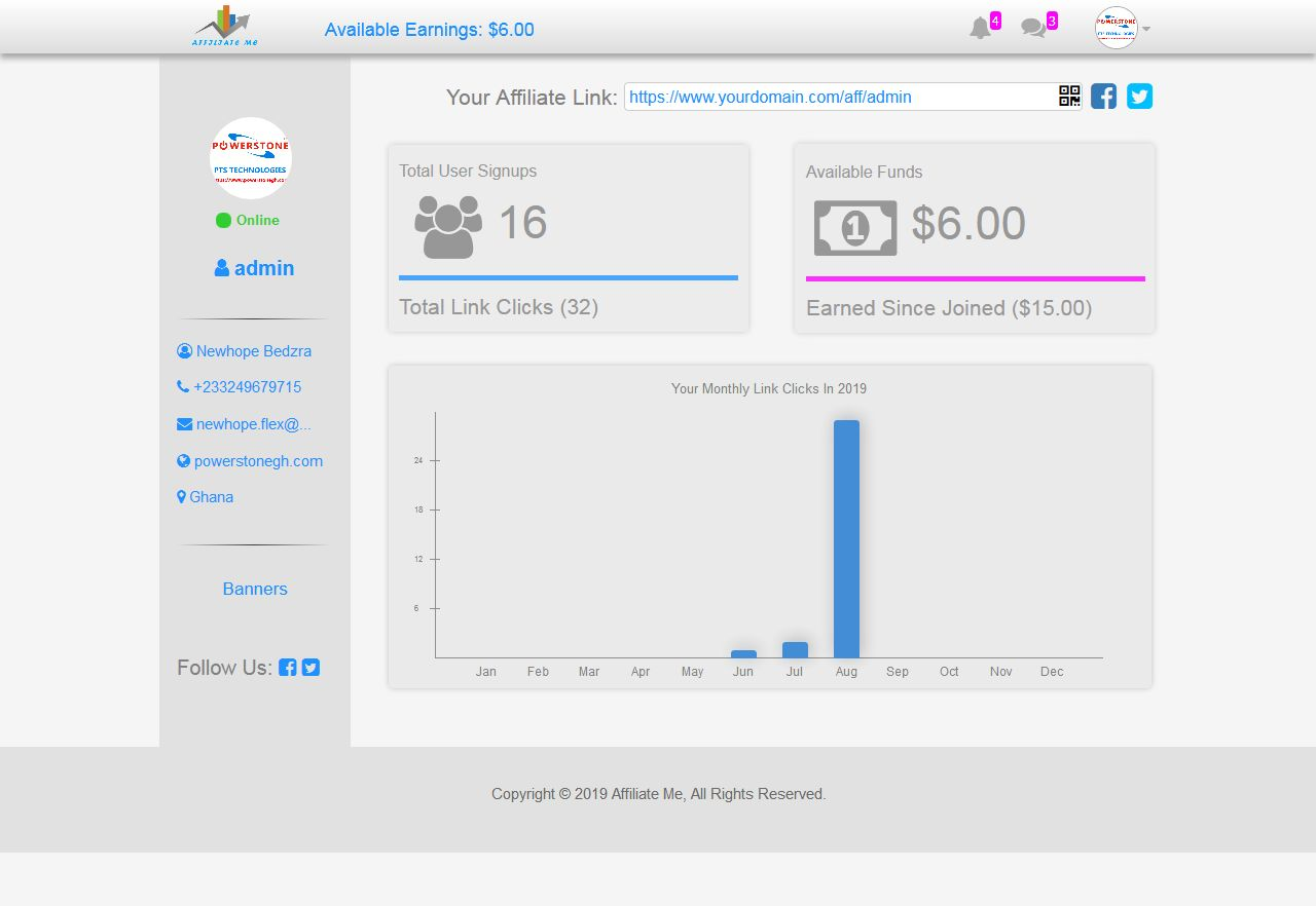 Affiliate Marketing And Sales Tracking Script Screenshot 9