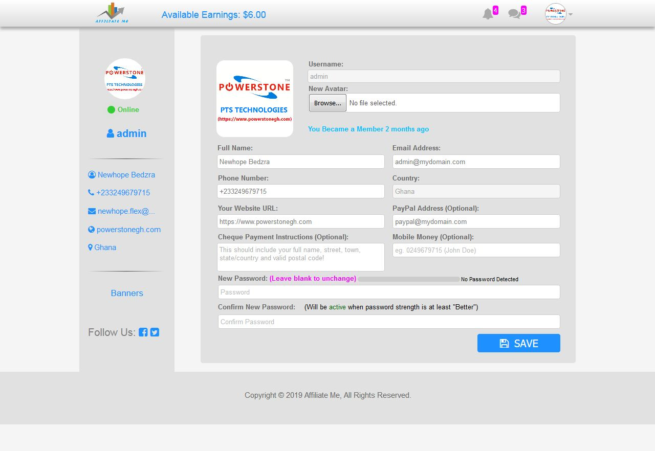 Affiliate Marketing And Sales Tracking Script Screenshot 14