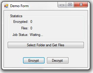 .NET File Encryptor Screenshot 1