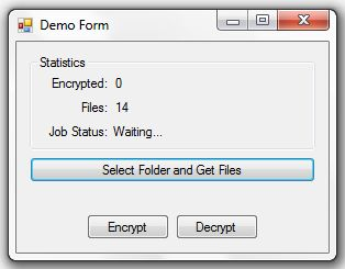 .NET File Encryptor Screenshot 2
