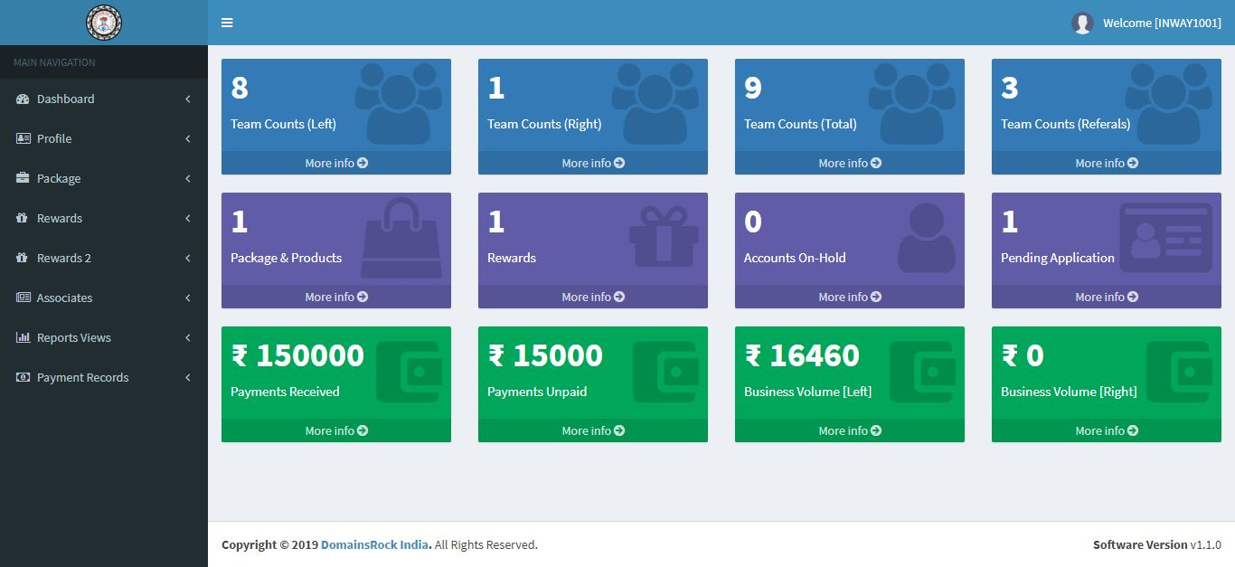 BinaryMLM with Product Sales And Rewards .NET Screenshot 10