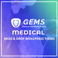 Gems - Medical Drag And Drop WordPress Theme