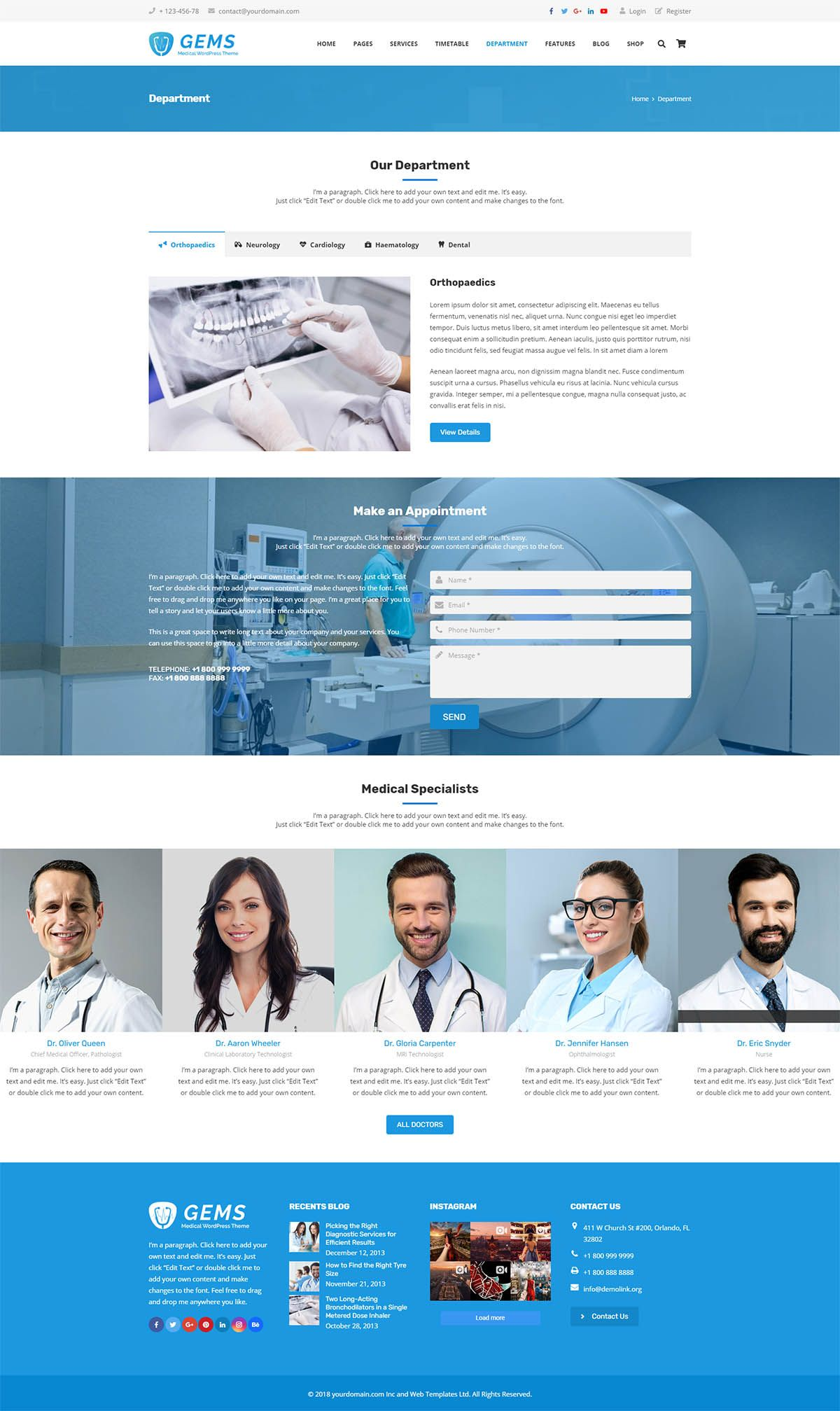 Gems - Medical Drag And Drop WordPress Theme Screenshot 7