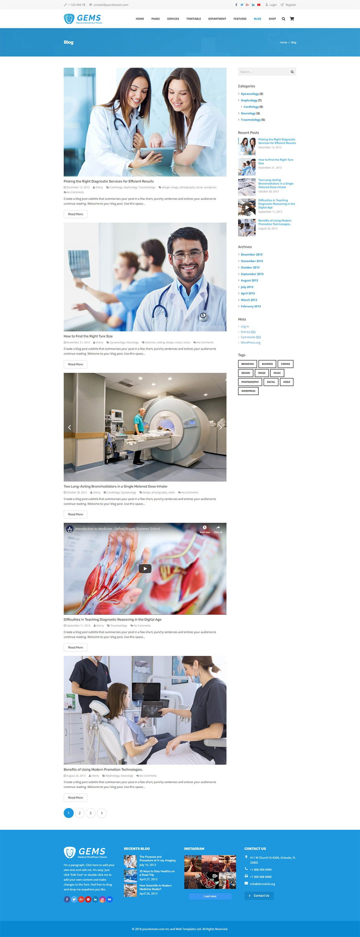Gems - Medical Drag And Drop WordPress Theme Screenshot 8