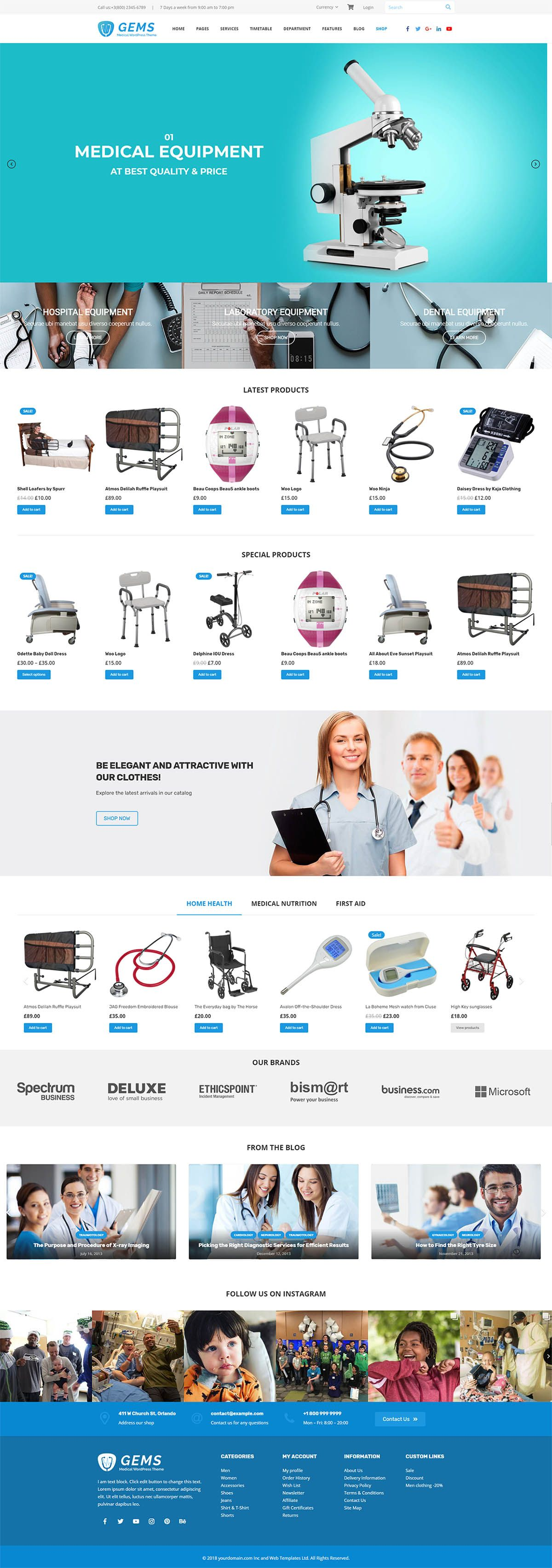Gems - Medical Drag And Drop WordPress Theme Screenshot 9