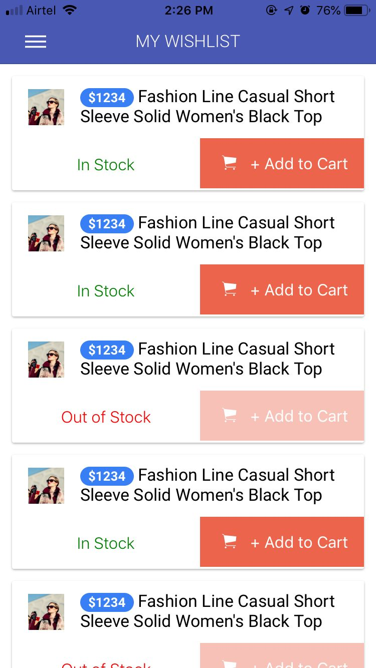 Ionic 3 Ecommerce App Theme Screenshot 8