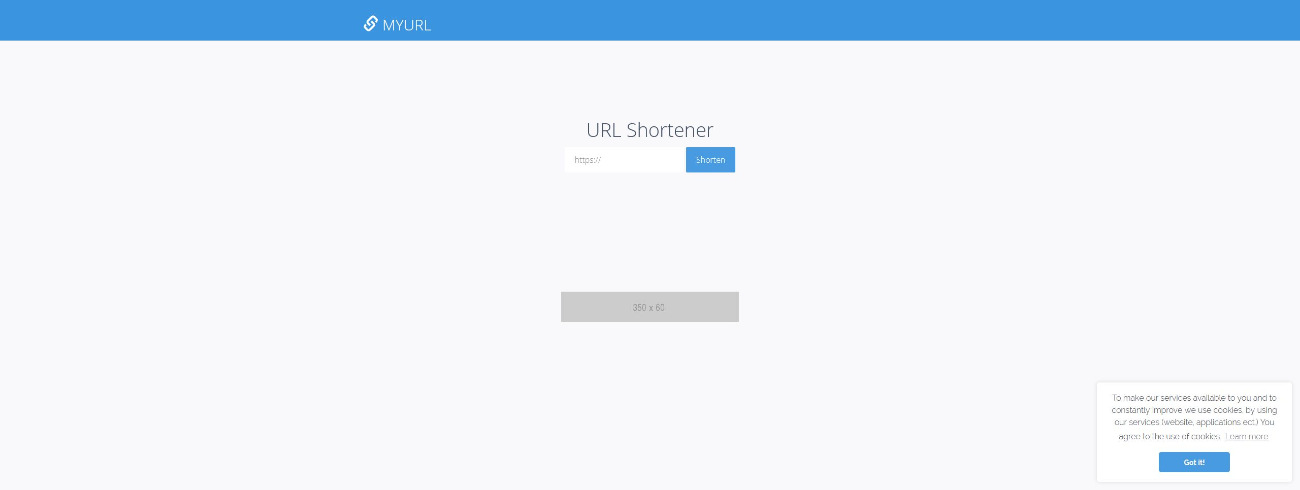 myURL - Private URL Shortner PHP Script Screenshot 1