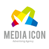 media-icon-logo-template