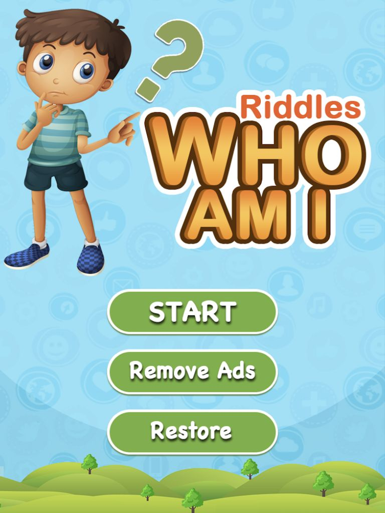 Riddles Who Am I - iOS Game Source Code Screenshot 1