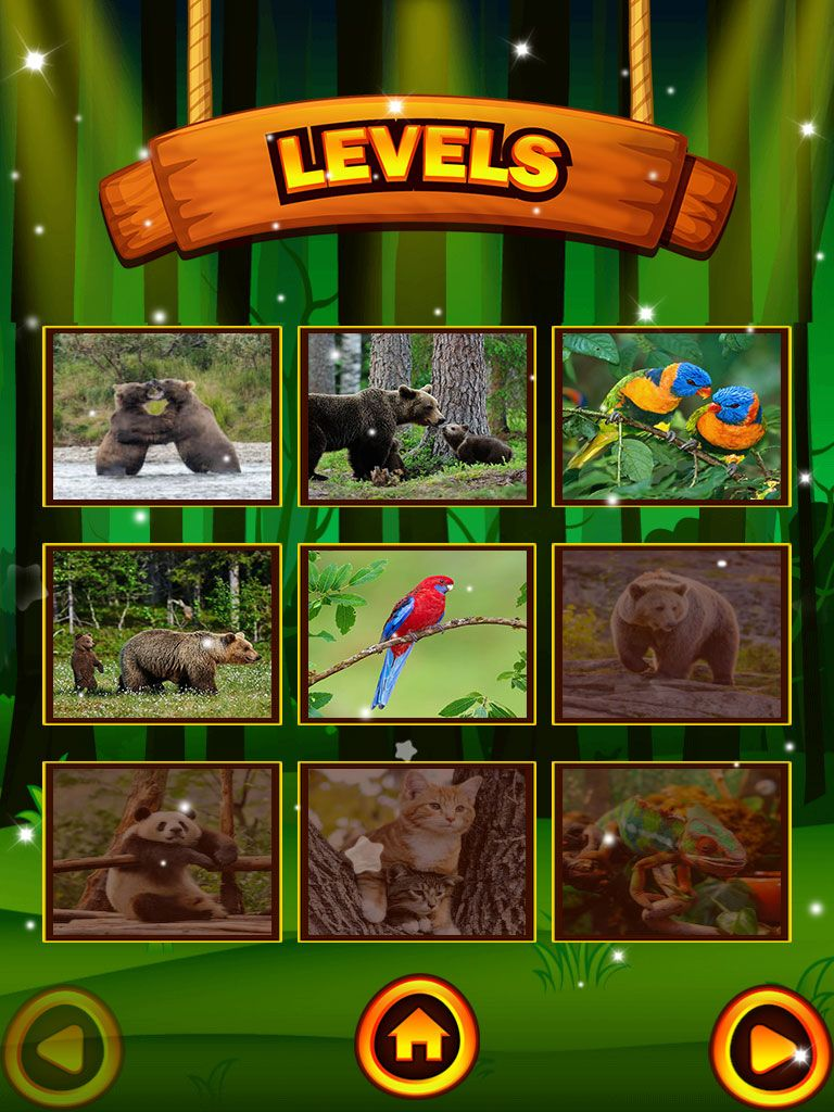 Animals Jigsaw Puzzle - iOS Source Code Screenshot 2