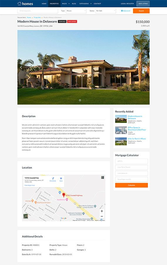Hot Homes - Joomla Template Screenshot 2