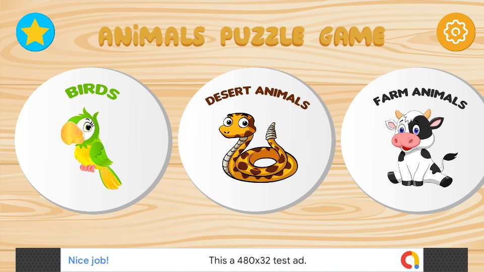 Animals Puzzle Kids Game - Unity Project Screenshot 2