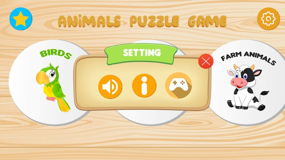 Animals Puzzle Kids Game - Unity Project Screenshot 3