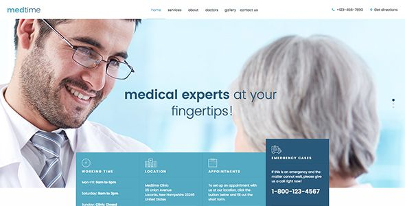 MedTime - One Page HTML Template for Medical Screenshot 1